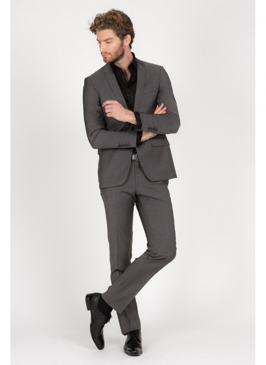 Slim fit suit Lanificio F.LLI Cerruti DAL 1881 - 23 - Dark Grey