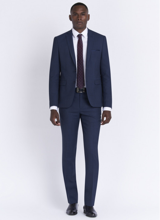Slim fit suit by Stanbridge - 84 - Denim Blue