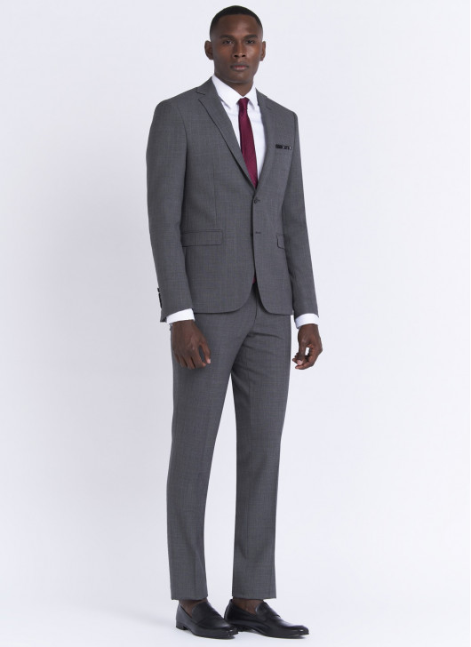 Slim fit suit by Stanbridge - 22 - Medium Grey