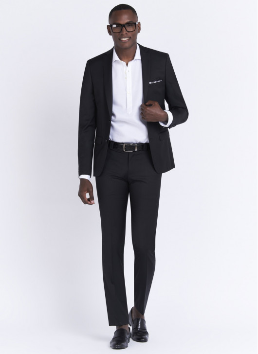 Slim fit suit by Stanbridge - 01 - Black
