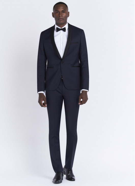 Shawl collar tuxedo by Stanbridge - 88 - Navy Blue
