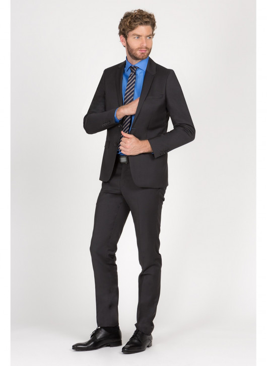 Costume slim fit Lanificio F.LLI Cerruti DAL 1881 - 24 - Gris anthracite
