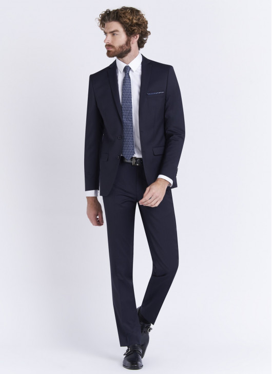 Slim fit suit by Stanbridge - 88 - Navy Blue