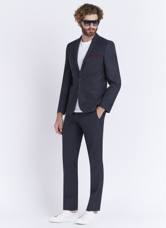 Slim fit suit by Stanbridge - 87 - Petrol Blue