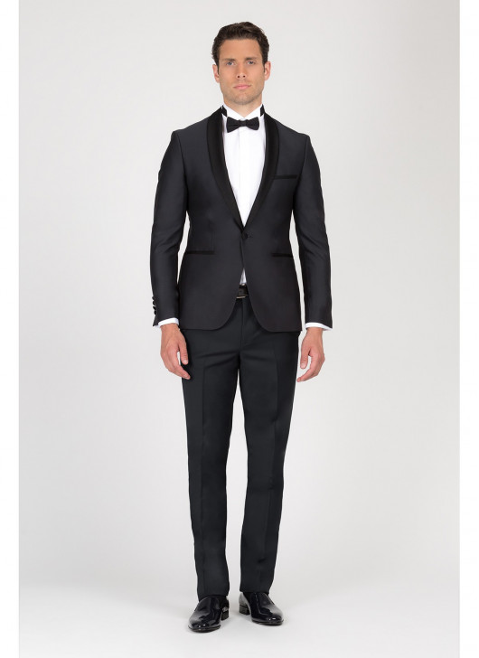 Slim-fit shawl collar tuxedo Ermenegildo Zegna - 24 - Anthracite Grey