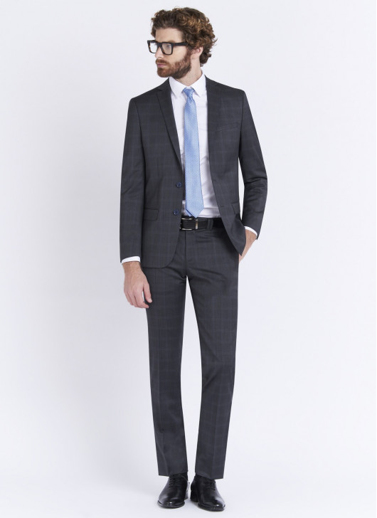 Slim fit suit by Stanbridge - 23 - Dark Grey