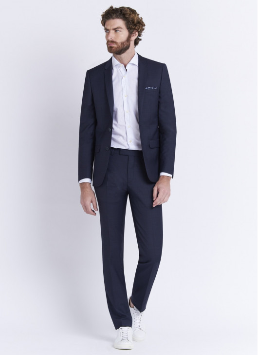 Slim fit suit by Lanificio F.LLI Cerruti DAL 1881 - 88 - Navy Blue