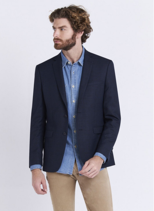 Slim fit jacket by Lanificio F.LLI Cerruti DAL 1881 - 88 - Navy Blue