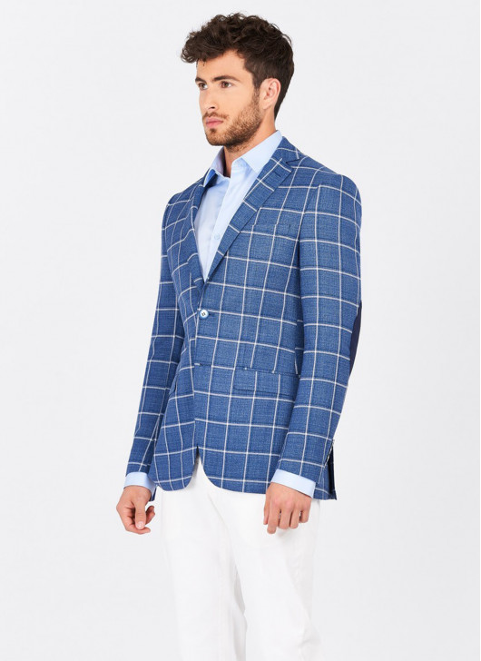 Slim fit jacket Lanificio F.ILLI Cerruti DAL 1881 - 84 - Denim Blue