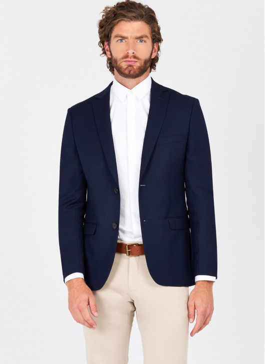 Slim fit jacket Lanificio F.LLI Cerruti DAL 19881 - 88 - Navy Blue