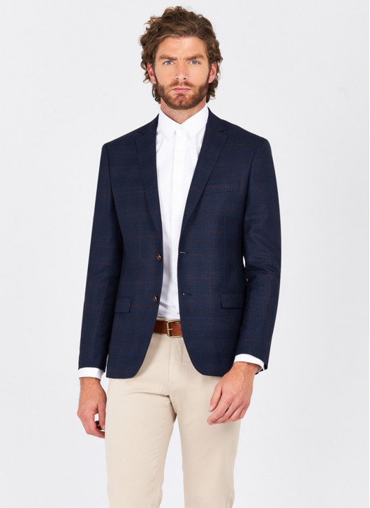 Slim fit jacket Lanificio F.ILLI cerruti DAL 1881 - 88 - Navy Blue