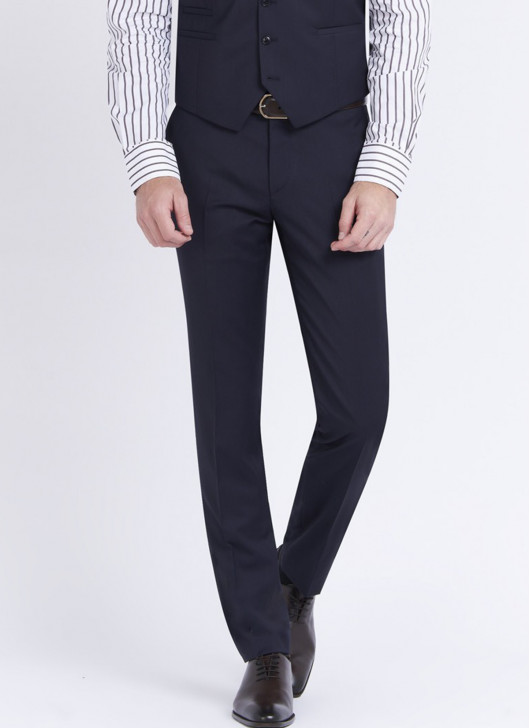 Slim fit trousers by Stanbridge - 88 - Navy Blue
