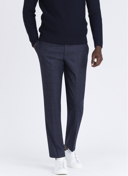 Lanificio F.LLI Cerruti DAL 1881 slim fit pants - 87 - Petrol Blue