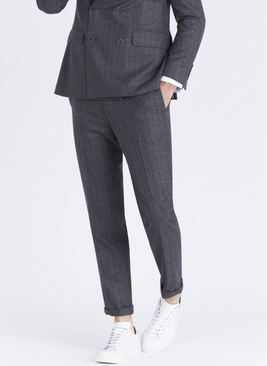 Lanificio F.LLI Cerruti DAL 1881 slim fit pants - 24 - Anthracite Grey