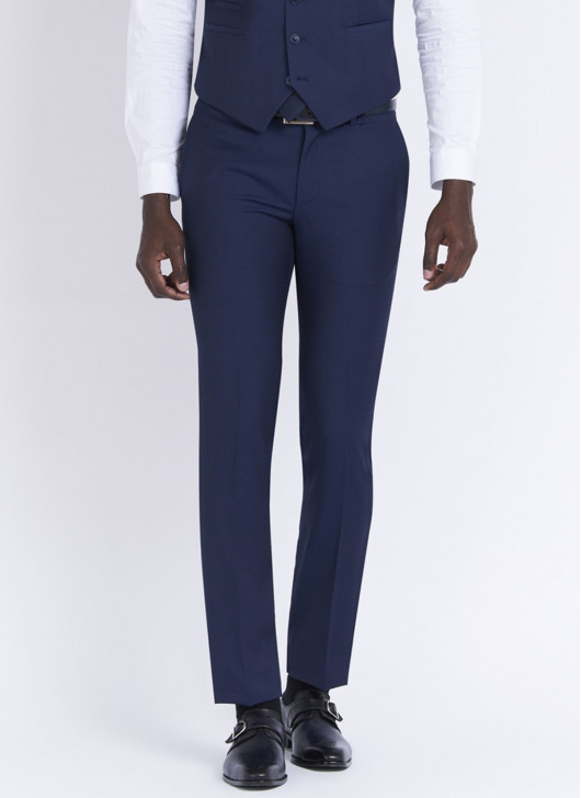 Slim fit trousers by Stanbridge - 87 - Petrol Blue