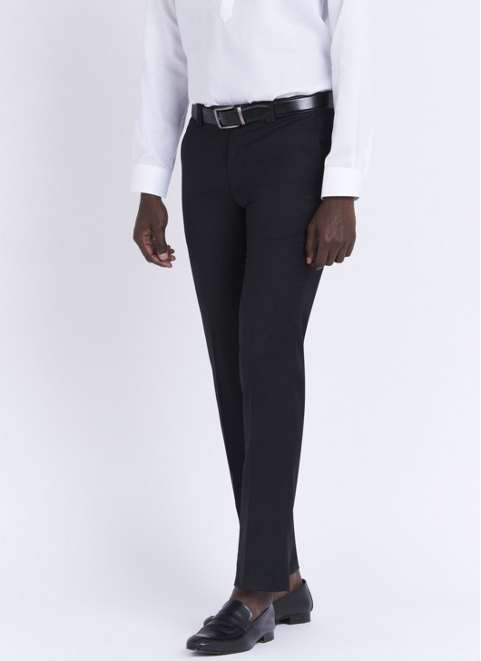 Slim fit trousers by Stanbridge - 01 - Black