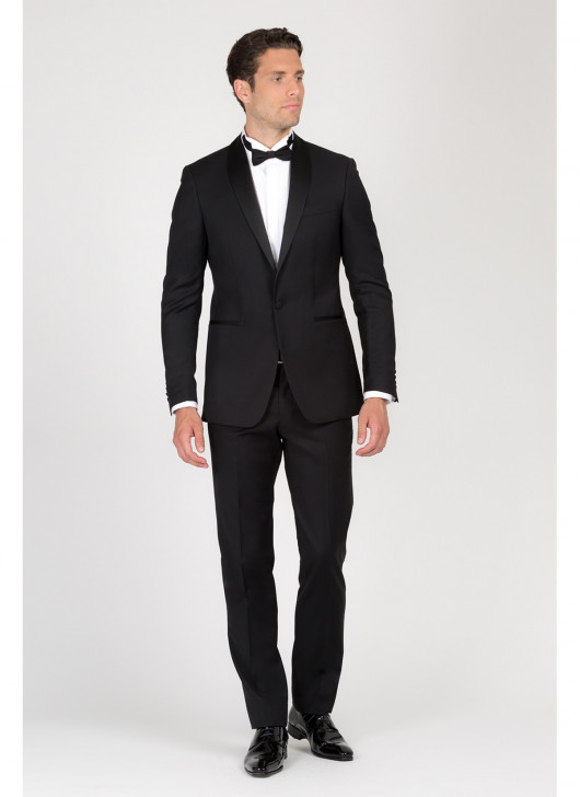 Shaw collar semi-slim fit tuxedo T.G DI FABIO - 01 - Black