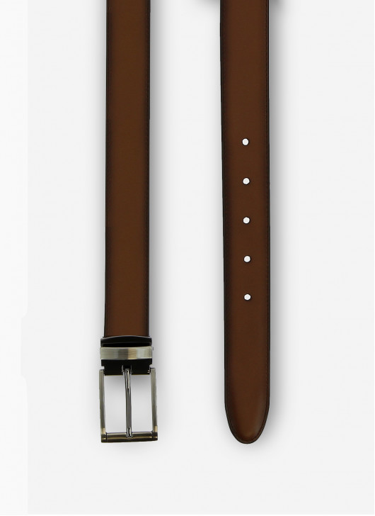 Ceinture en cuir Stanbridge - 35 - Marron