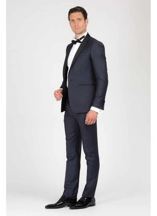 Shawl collar semi-slim fit tuxedo T.G DI FABIO - 88 - Navy Blue
