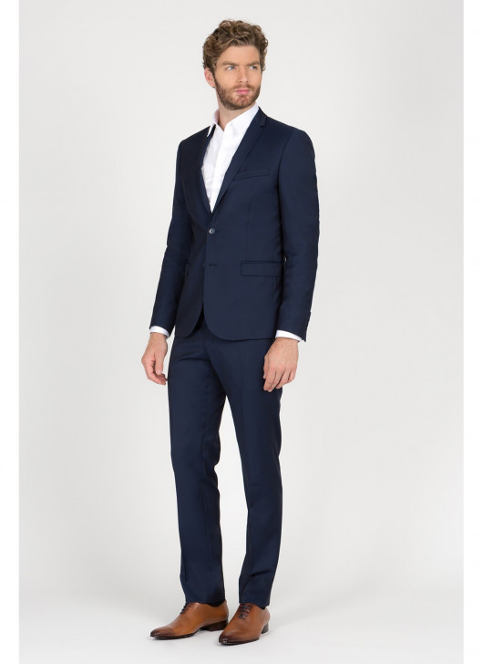 Slim Fit Suit T.G di Fabio - 88 - Navy Blue