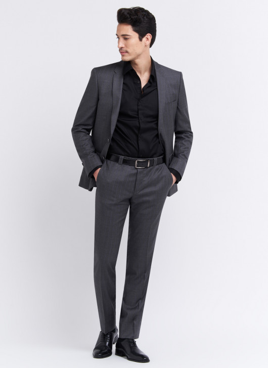 Slim fit suit by Lanificio F.lli Cerruti Dal 19881 - 23 - Dark Grey