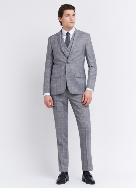 Slim fit suit by Lanificio F.lli Cerruti Dal 19881 - 21 - Pearl Grey