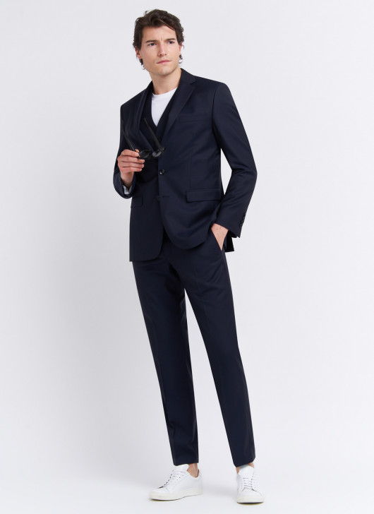Regular fit suit by Lanificio F.lli Cerruti Dal 19881 - 88 - Navy Blue