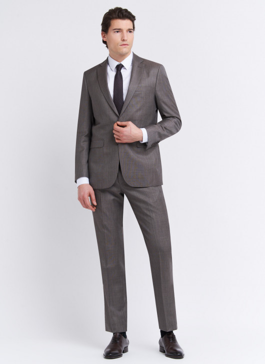 Costume regular fit Lanificio F.lli Cerruti Dal 19881 - 25 - Gris mat