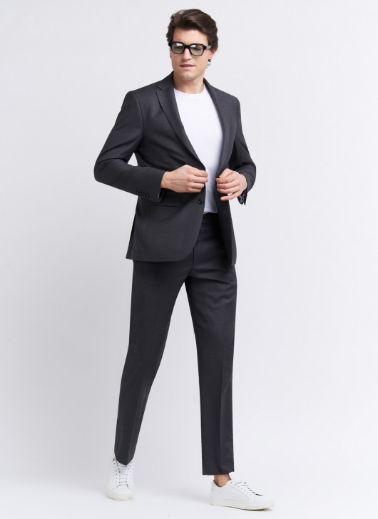 Regular fit suit by Lanificio F.lli Cerruti Dal 19881 - 24 - Anthracite Grey