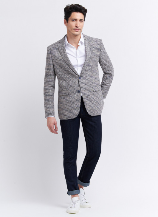 Slim fit jacket by Lanificio F.lli Cerruti Dal 19881 - 21 - Pearl Grey
