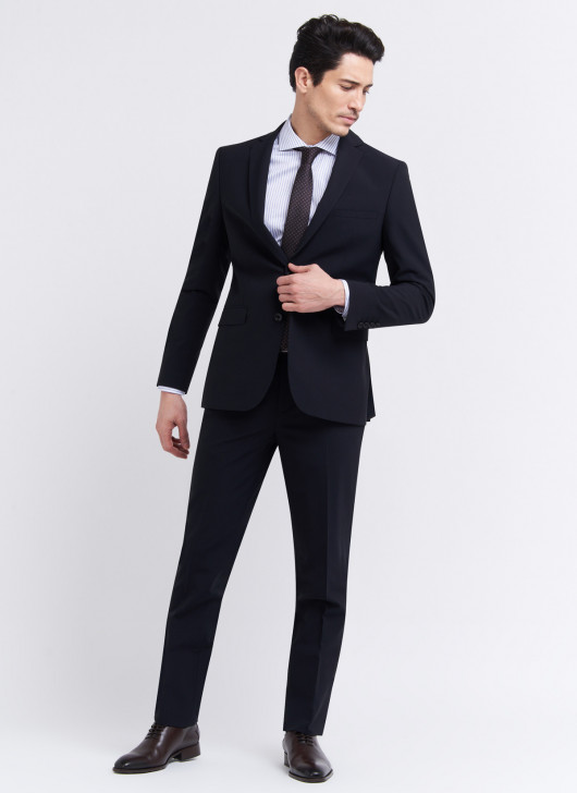 Costume semi-slim fit Stanbridge - 01 - Noir