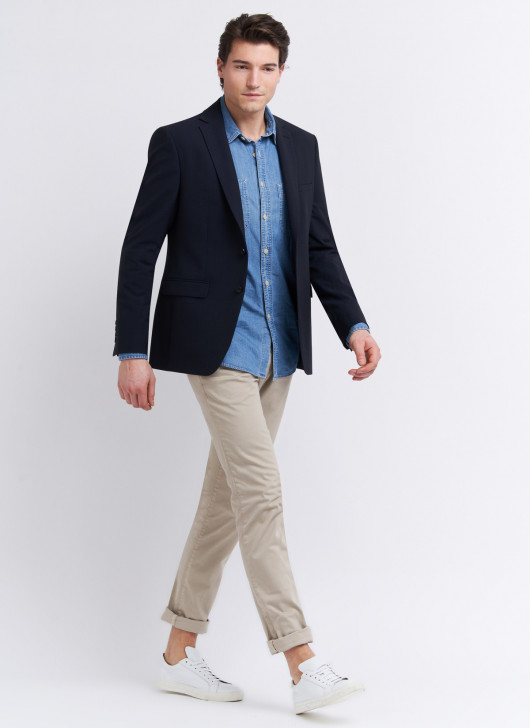 Veste semi-slim fit Stanbridge - 88 - Bleu marine