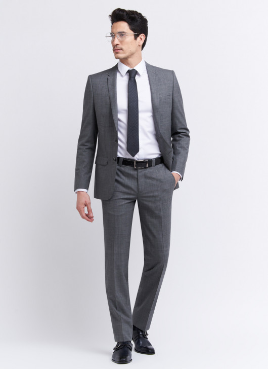 Costume slim fit Cloth Ermenegildo Zegna - 22 - Gris moyen