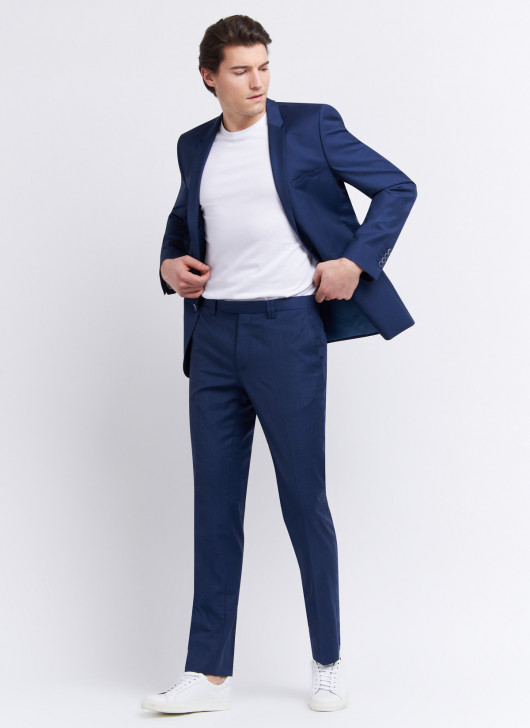 Slim fit suit by Cloth Ermenegildo Zegna - 87 - Petrol Blue