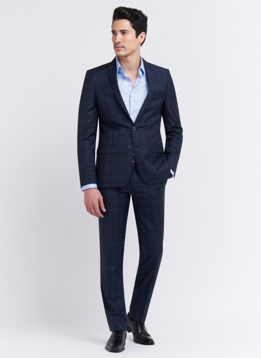 Slim fit suit by Cloth Ermenegildo Zegna - 88 - Navy Blue