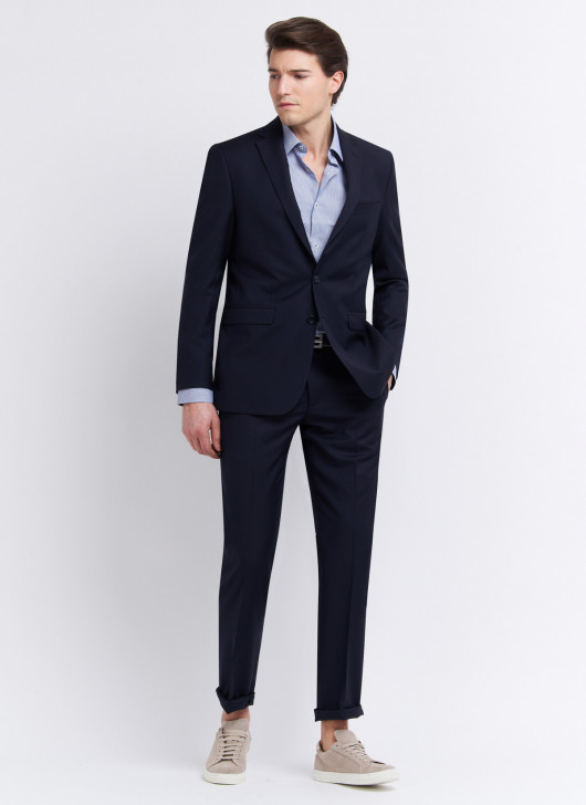 Costume regular fit Cloth Ermenegildo Zegna - 88 - Bleu marine