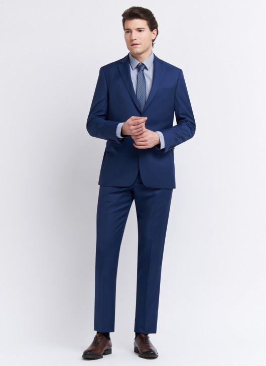 Costume regular fit Cloth Ermenegildo Zegna - 87 - Bleu pétrole
