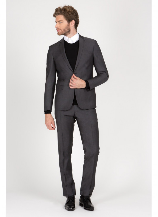 Slim Fit Suit T.G di Fabio - 25 - Matt Grey