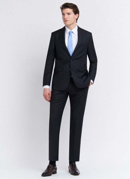 Costume regular fit Cloth Ermenegildo Zegna - 01 - Noir