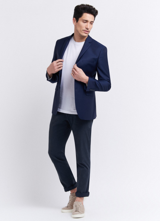 Slim fit jacket by Cloth Ermenegildo Zegna - 89 - Midnight Blue