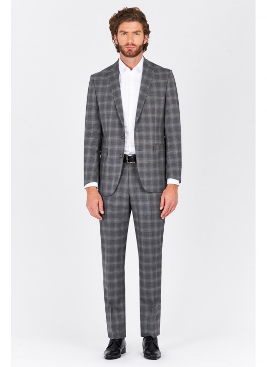 Regular fit suit Lanificio F.ILLI Cerruti DAL 1881 - 22 - Medium Grey