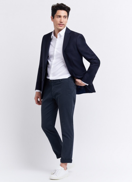Slim fit jacket by Cloth Ermenegildo Zegna - 88 - Navy Blue