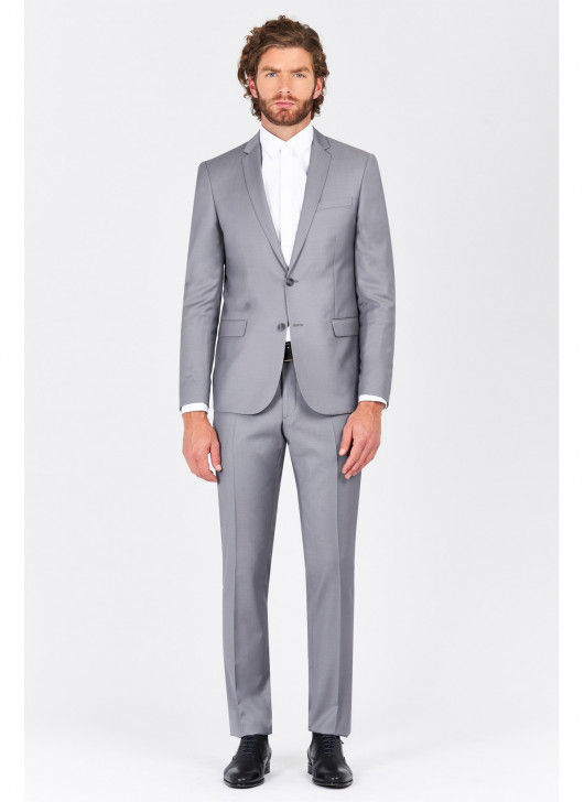 Slim Fit Suit T.G di Fabio - 21 - Pearl Grey