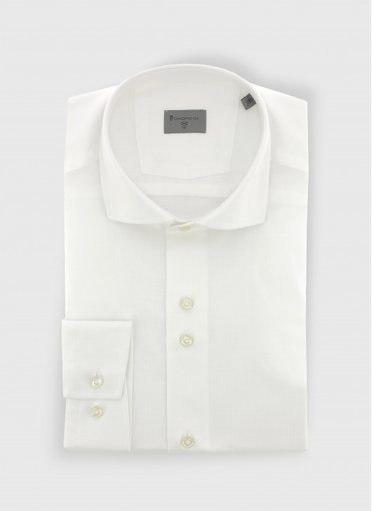 Slim fit shirt en tissus Oxford - 10 - White