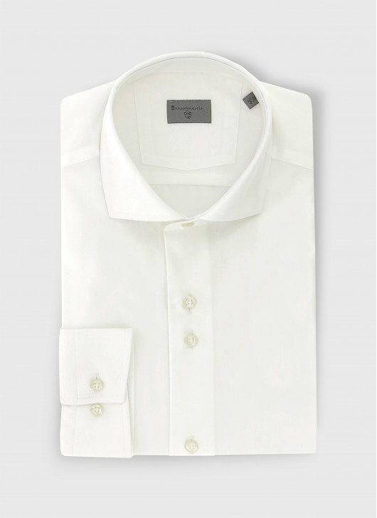 Slim fit poplin shirt - 10 - White