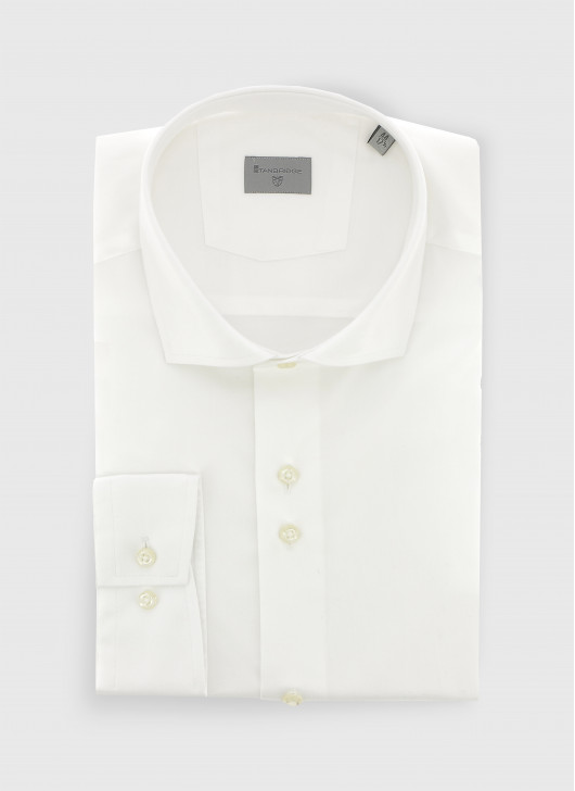 Slim fit twill shirt - 10 - White