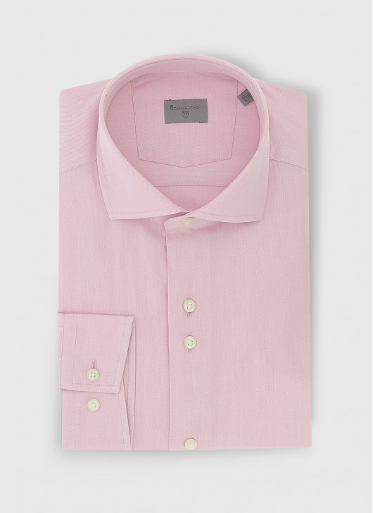 Slim fit twill shirt - 62 - Sugar Coated Pink