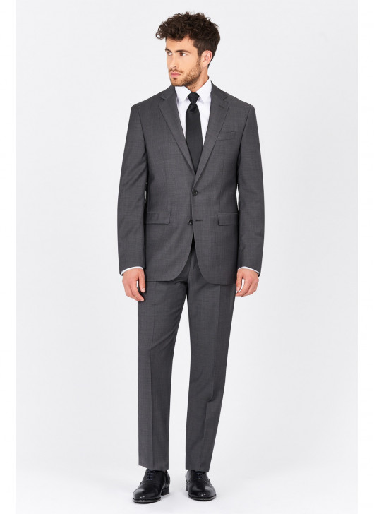 Slim fit suit Lanificio F.ILLI Cerruti DAL 1881 - 24 - Anthracite Grey
