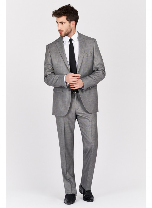 Regular fit suit Lanificio F.ILLI Cerruti DAL 1881 - 21 - Pearl Grey