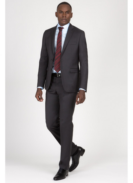 Costume regular fit Lanificio F.LLI Cerruti DAL 1881 - 24 - Gris anthracite